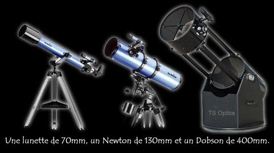 diamètre des télescopes