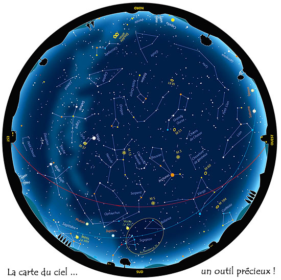 <b>Astronomie</b> - <b>carte</b> <b>du</b> <b>ciel</b>